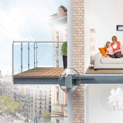 frei auskragender balkon im passivhaus energie fachberater. Black Bedroom Furniture Sets. Home Design Ideas